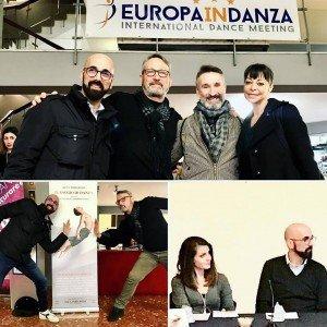 L'étoile Vladimir Derevianko, il coreografo Steve Lachance, la ballerina Sabrina Brazzo, la giornalista Azzurra di Meco e Alex Imburgia
