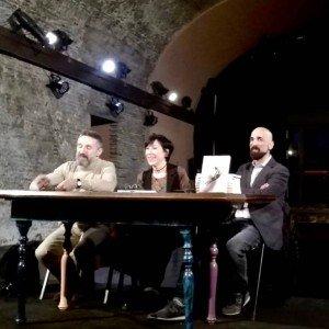 L'étoile Vladimir Derevianko, la scrittrice giornalista Eleonora Saracino, Alex Imburgia